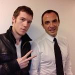 Avec Nikos Aliagas