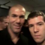 Avec Zinédine Zidane